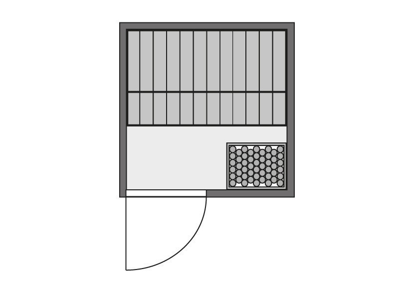 karibu massiv sauna 230 volt nadja fronteinstieg 38 mm mit dachkranz inkl ofen 3 6 kw ext. Black Bedroom Furniture Sets. Home Design Ideas