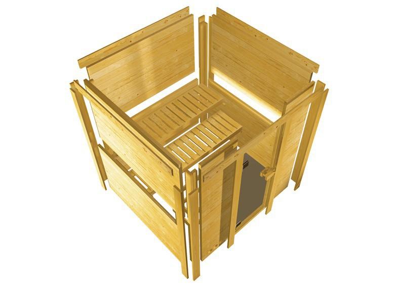 karibu massiv sauna sahib 2 classic eckeinstieg 40 mm ohne zubeh r. Black Bedroom Furniture Sets. Home Design Ideas