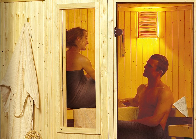 karibu system sauna simara 3 eckeinstieg 68 mm ohne zubeh r mit fenster. Black Bedroom Furniture Sets. Home Design Ideas