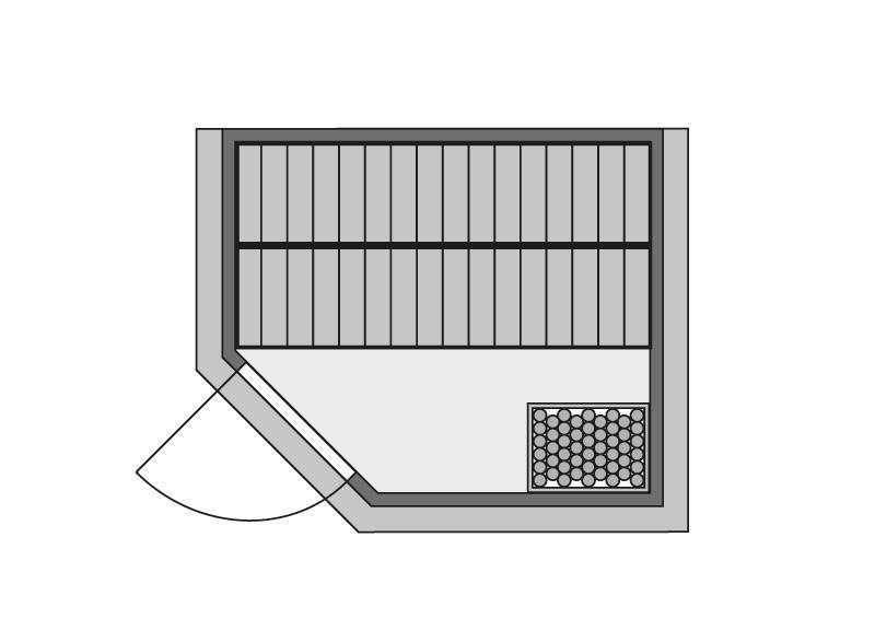 karibu massiv sauna sinai 3 eckeinstieg 40 mm mit dachkranz ohne zubeh r. Black Bedroom Furniture Sets. Home Design Ideas