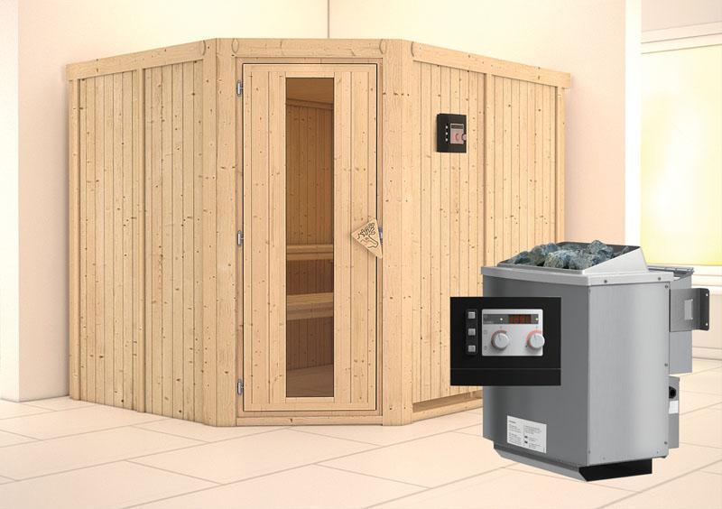 karibu system sauna malin energiespart r eckeinstieg ofen 9 kw bio externe strg modern. Black Bedroom Furniture Sets. Home Design Ideas