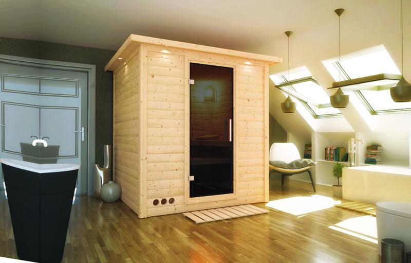 karibu massiv sauna mojave modern fronteinstieg 40 mm ohne zubeh r. Black Bedroom Furniture Sets. Home Design Ideas