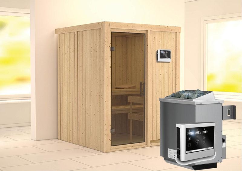 karibu system sauna norin modern fronteinstieg 68 mm ofen 9 kw externe strg modern. Black Bedroom Furniture Sets. Home Design Ideas