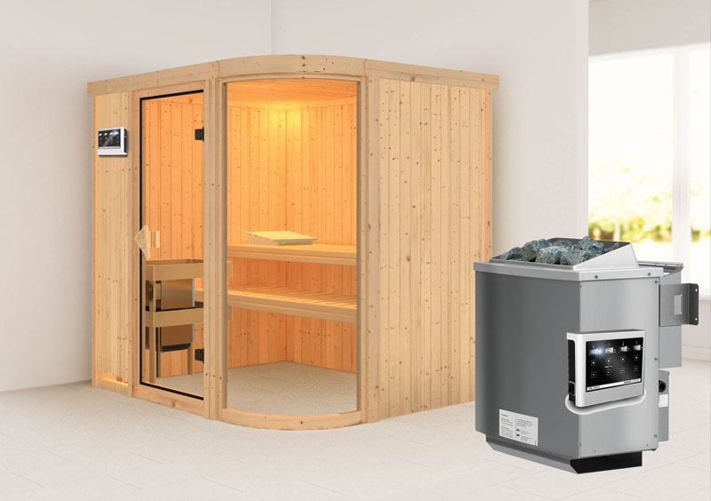 karibu system sauna parima 2 fronteinstieg 68 mm inkl ofen 9 kw bio kombi ext steuerung. Black Bedroom Furniture Sets. Home Design Ideas