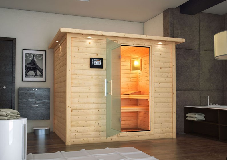 karibu massiv sauna sonara classic fronteinstieg 40 mm. Black Bedroom Furniture Sets. Home Design Ideas