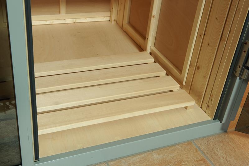 Fußboden In Sauna ~ Weka heimsauna wellnissage designsauna ii fenster rechts bianco weiss