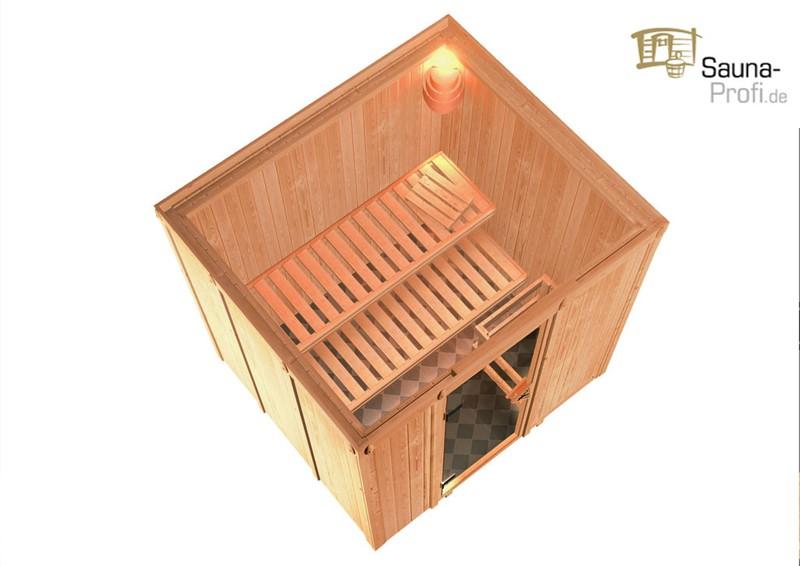 Systembau Sauna Reipa Classic (Fronteinstieg) 68 mm inkl. Ofen und ...