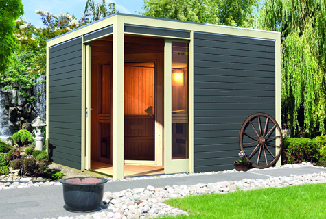 sauna haus f r den garten online bestellen. Black Bedroom Furniture Sets. Home Design Ideas
