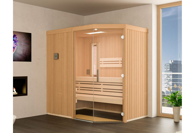 infraworld sauna auf ma optima mit sole therme hemlockholz 75 mm elementbau von l nge 142 151. Black Bedroom Furniture Sets. Home Design Ideas