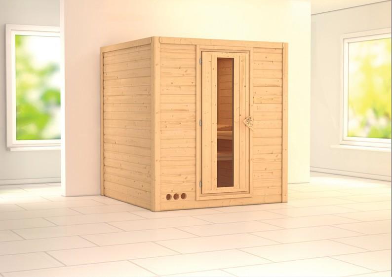 karibu massiv sauna mojave energiespart r fronteinstieg 40 mm mit dachkranz ohne zubeh r. Black Bedroom Furniture Sets. Home Design Ideas