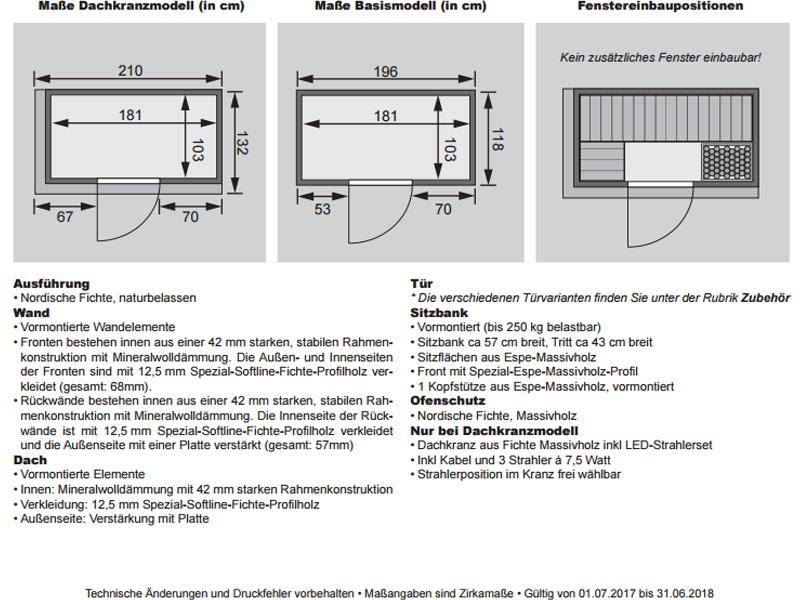 karibu system sauna variado eckeinstieg 68 mm inkl ofen. Black Bedroom Furniture Sets. Home Design Ideas