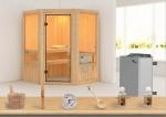 Karibu Sauna Aktionsset 1 inkl. 9 kW Saunaofen mit integr. Steuerung und Zubehörset
