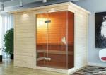 Karibu Massiv Sauna Platina 3 (Fronteinstieg) 40 mm inkl. Bio-Kombiofen 9 kW ext. Steuerung
