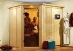 Karibu Sauna Lilja ohne Dachkranz (Eckeinstieg)