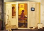 Karibu System Sauna Simara 3 ohne Fenster (Eckeinstieg) 68 mm