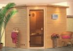 Karibu Sauna Lena ohne Dachkranz (Eckeinstieg)