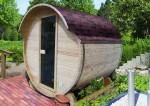 Karibu Fass-Sauna (Fronteinstieg)