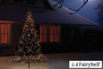 Fairybell LED-Weihnachtsbaum außen - christmas tree - Maße 185 x 85 cm - 250 LED-Lampen: warmweiß
