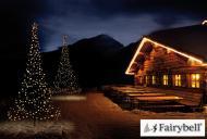 Fairybell LED Weihnachtsbaum außen - christmas tree - Maße 300 x 150 cm - 360 LED-Lampen: warmweiß