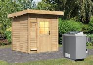 Karibu Gartensauna Torge  inkl. Ofen 9 kW mit integr. Steuerung