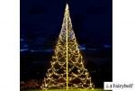 Fairybell LED-Weihnachtsbaum Lichterbaum H x B: 1000 x 500 cm - 2000 LEDs: warm-weiß