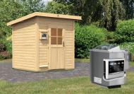 Karibu Gartensauna Torge   inkl. Ofen 9 kW Bio-Kombi ext. Steuerung