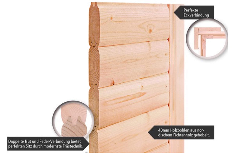 karibu massivholz saunen exklusive optik und made in germany. Black Bedroom Furniture Sets. Home Design Ideas